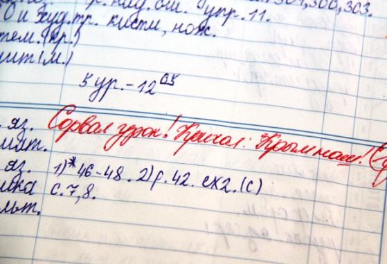 Смешные записи в школьных дневниках 4